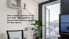 Poster: When renting a vacation or long  term rental,  both landlords and  tenants should take pictures before  and after renting.
