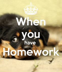 Poster: When you have  Homework