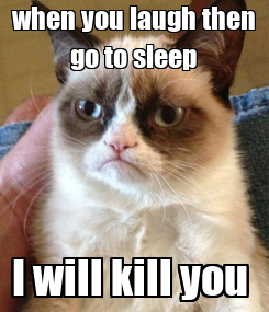 Poster: when you laugh then go to sleep I will kill you