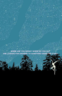 Poster: WHERE ARE YOU GOING? WHERE DO YOU GO? ARE LOOKING FOR ANSWERS TO QUESTIONS UNDER THE STARS?