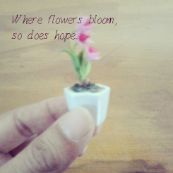 Poster: Where flowers bloom, so does hope...