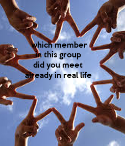 Poster:               which member               in this group