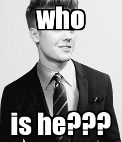 Poster: who is he???