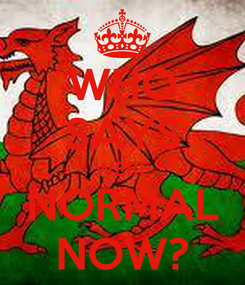 Poster: WHO SAYS WERE NORMAL NOW?