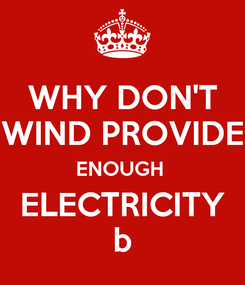 Poster: WHY DON'T WIND PROVIDE ENOUGH  ELECTRICITY b