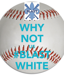 Poster: WHY NOT US #BLAST WHITE