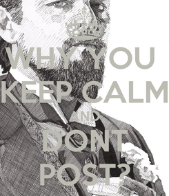 Poster: WHY YOU  KEEP CALM AND DONT POST?
