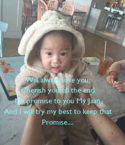 Poster: Will always love you, Cherish you till the end My promise to you My Jaan And I will try my best to keep that Promise....