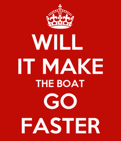 Poster: WILL  IT MAKE THE BOAT GO FASTER