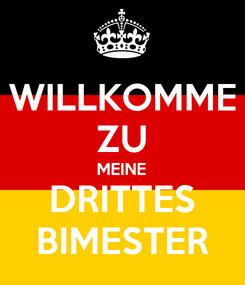 Poster: WILLKOMME ZU MEINE DRITTES BIMESTER