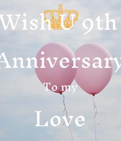 Poster: Wish U 9th  Anniversary To my Love Ishita