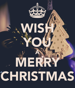 Poster: WISH YOU A MERRY CHRISTMAS