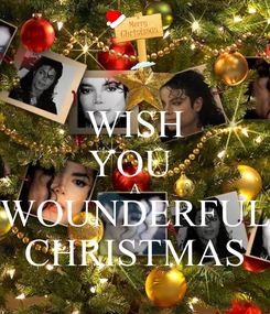 Poster: WISH YOU  A WOUNDERFUL CHRISTMAS
