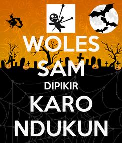Poster: WOLES SAM DIPIKIR KARO NDUKUN