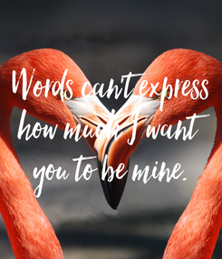 Poster: Words can't express how much I want you to be mine.