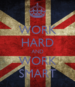 Poster: WORK HARD AND WORK SMART