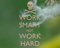 Poster: WORK SMART NOT WORK HARD