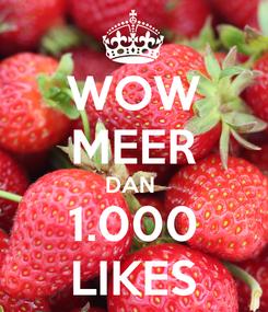 Poster: WOW MEER DAN  1.000 LIKES