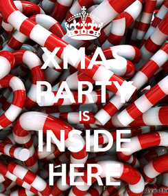 Poster: XMAS PARTY IS INSIDE HERE
