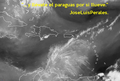 "Poster: ""... y llévate el paraguas por si llueve."" JoseLuisPerales."