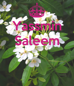 Poster: Yassmin Saleem