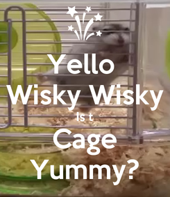 Poster: Yello  Wisky Wisky Is t Cage Yummy?