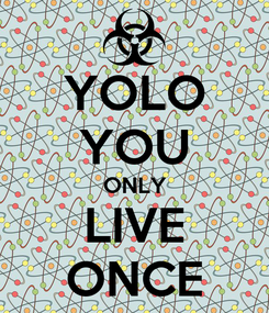 Poster: YOLO YOU ONLY LIVE ONCE