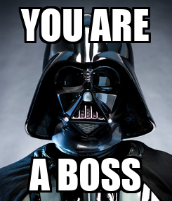 Poster: YOU ARE A BOSS
