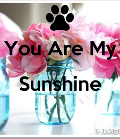 Poster:  You Are My Sunshine