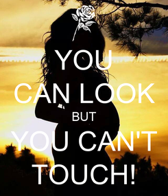 Poster: YOU CAN LOOK BUT YOU CAN'T TOUCH!