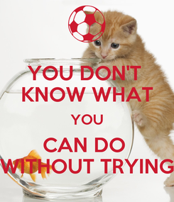 Poster: YOU DON'T  KNOW WHAT YOU CAN DO  WITHOUT TRYING