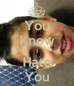 Poster: You Know I Hate You