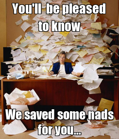 Poster: You'll  be pleased to know We saved some nads for you...