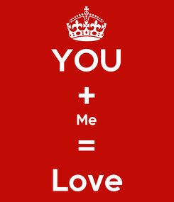 Poster: YOU + Me = Love