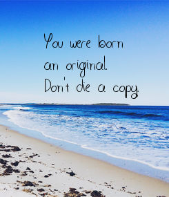 Poster: You were born