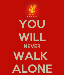 Poster: YOU WILL NEVER WALK  ALONE