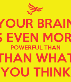 Poster: YOUR BRAIN IS EVEN MORE POWERFUL THAN THAN WHAT YOU THINK