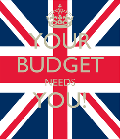 Poster: YOUR BUDGET NEEDS YOU!