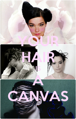 Poster: YOUR HAIR IS A CANVAS