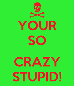 Poster: YOUR SO  CRAZY STUPID!