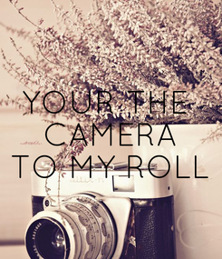 Poster: YOUR THE  CAMERA TO MY ROLL