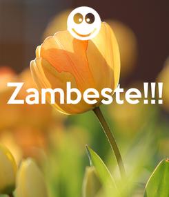 Poster:  Zambeste!!!
