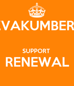 Poster: ZVAKUMBERI   SUPPORT  RENEWAL