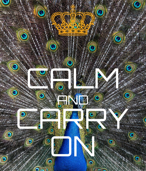 आरिफ CALM AND CARRY ON