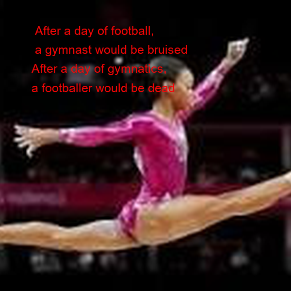 After a day of football,  