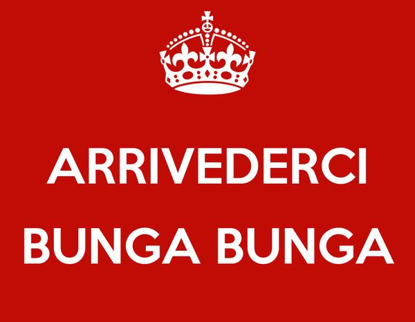 ARRIVEDERCI  BUNGA BUNGA