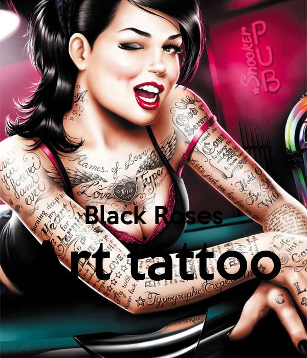 Black Roses Art tattoo
