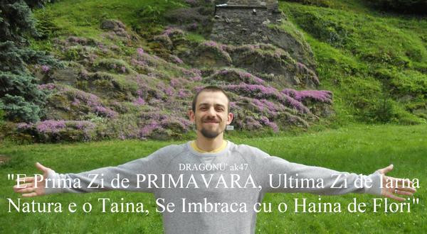 "DRAGONU' ak47 ""E Prima Zi de PRIMAVARA, Ultima Zi de Iarna Natura e o Taina, Se Imbraca cu o Haina de Flori"""
