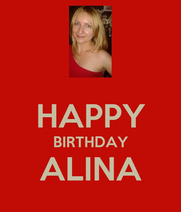 HAPPY BIRTHDAY ALINA