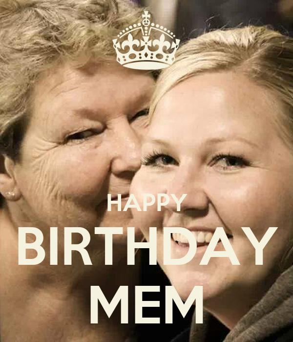 HAPPY BIRTHDAY MEM Poster